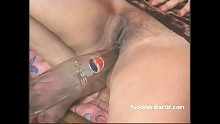Indian GF Fucking Masturbating With Pepsi Bottle Getting Orgasm