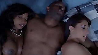 Dark-hued housewife and friend cum swapping